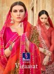 Shangrila viraasat Indian Traditional wear beautiful colours saree collection at wholesale Rate