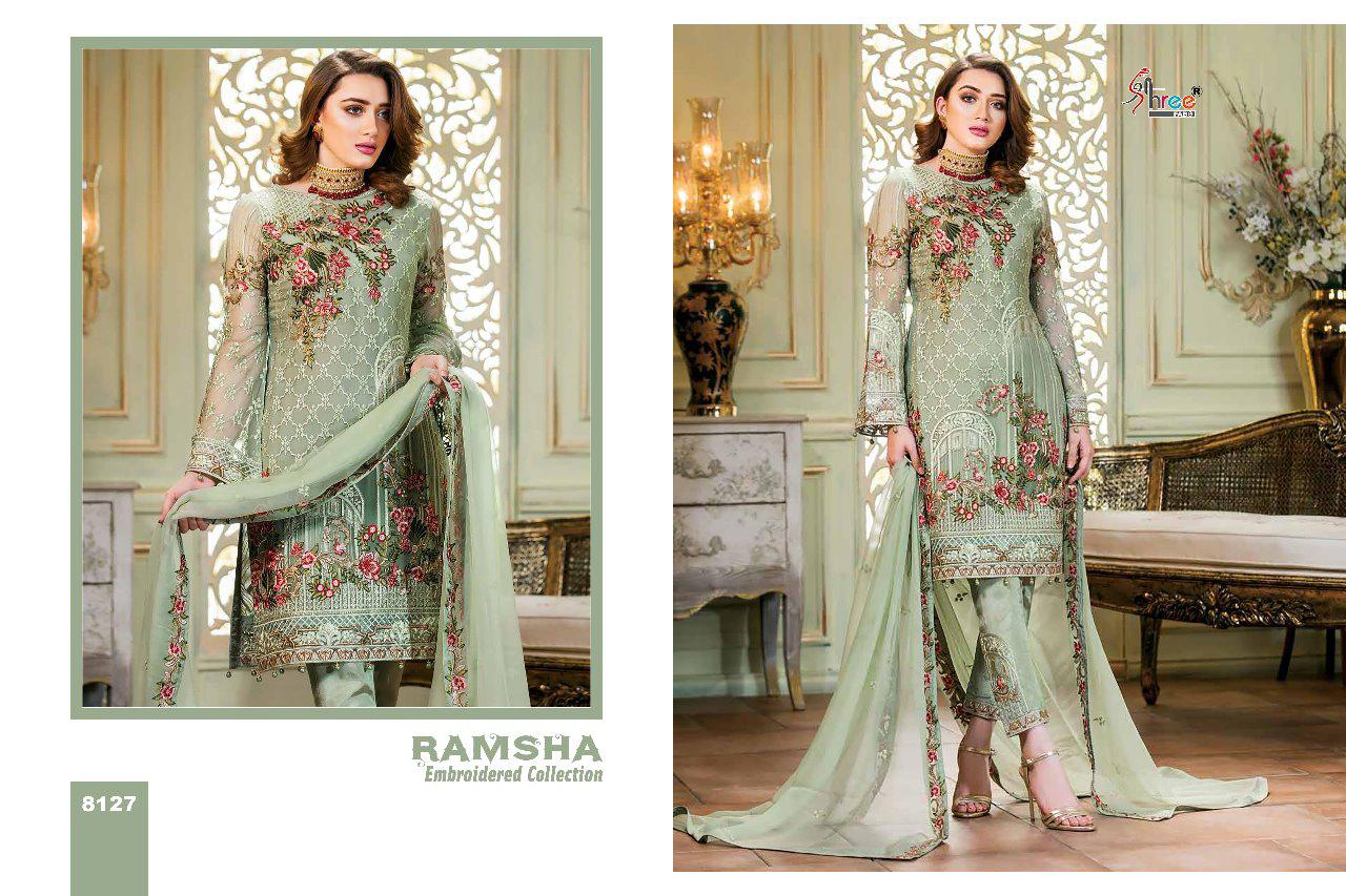 4617ccd2ec Shree fabs ramsha embroidered collection wedding wear designer suits  collection