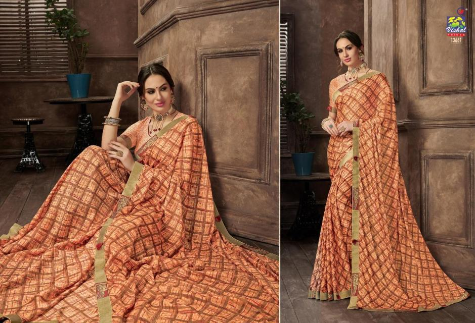 Vishal sarees eden vol 3 traditional Wear Stylish Printed sarees Collection Dealer