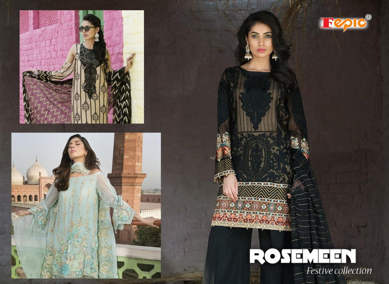 a014c6c279 Fepic rosemeen festive collection heavy embroidered karachi suits catalog