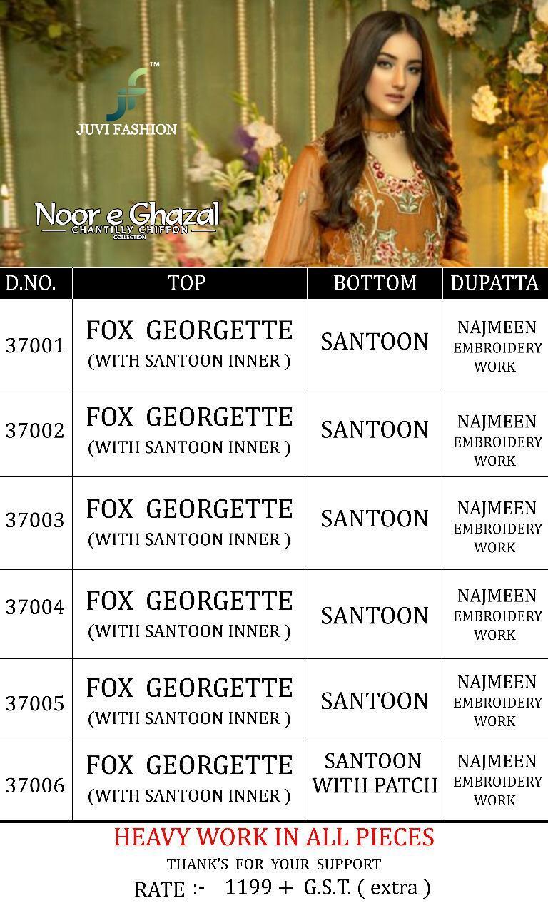 fdb04ac4cb Juvi fashion noor e ghazal pakistani style salwar Kameez Collection At  Wholesale Rate