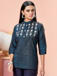 Kalki fashion rida denim tops party wear kurties catalog dealer