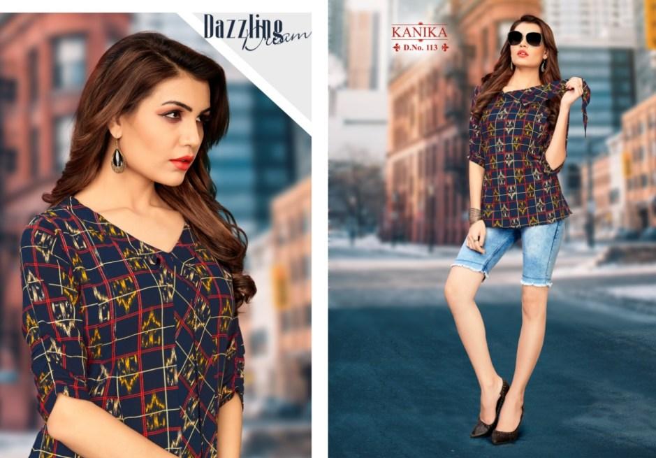 Kanika aleeza vol 2 printed rayon short top catalog Wholsaler