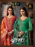 Kessi aabhushan vol 4 banarasi dupatta embroidered Salwar Kameez Collection
