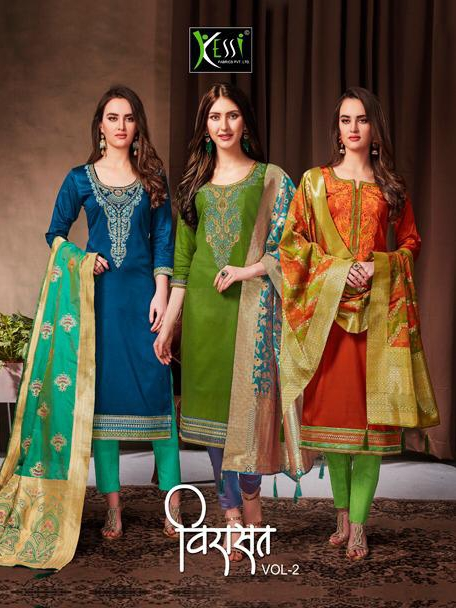 Kessi virasaat vol 2 cotton embroidered Salwar Kameez Collection
