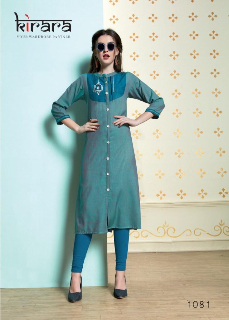 Kirara namo casual wear stylish printed cotton kurties collection