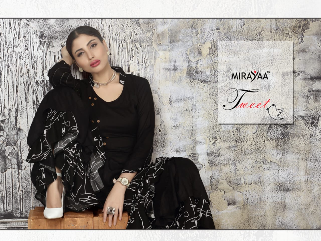 Mirayaa tweet kurti with sharara fancy party wear outfit