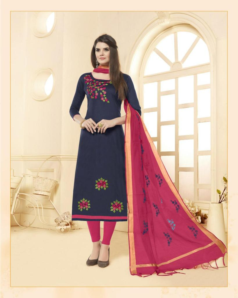 One choice blossom cotton fancy ethnic salwar Kameez Collection