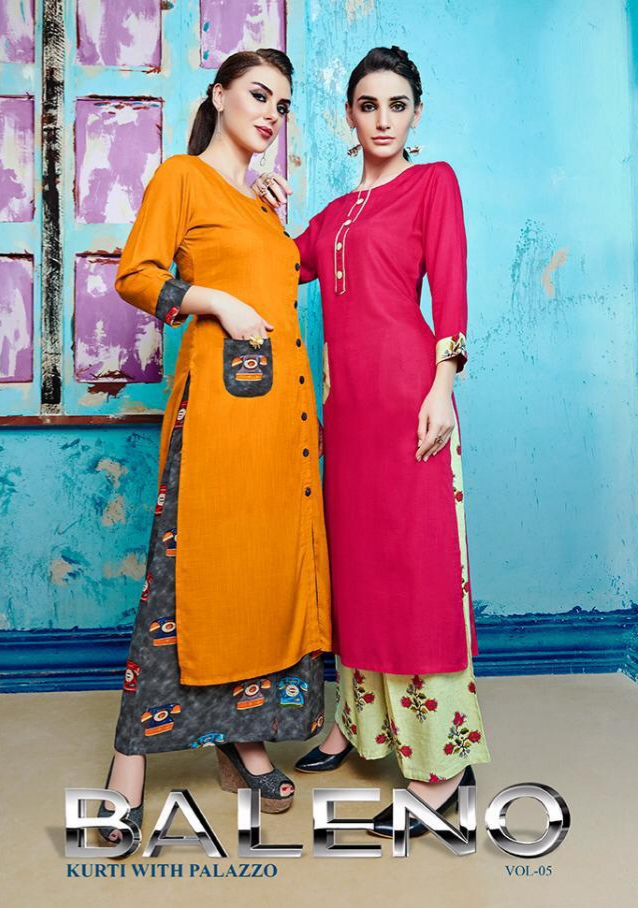 S more baleno vol 5 Fancy Kurties Collection At Wholesale Rate