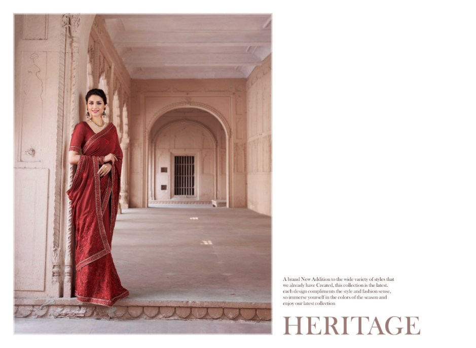 Saroj heritage indian Traditional Wear Stylish Printed Sarees Collection Dealer