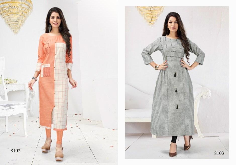 Shalin maniyar Fashion summer cool cotton printed Kurties Catalog