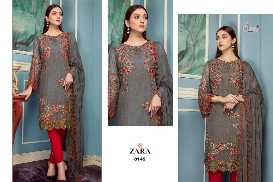 Shree Fabs zara Georgette designer party wear salwar Kameez Collection