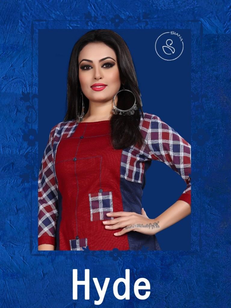 Siana hyde ready to wear cotton kurties catalog dealer