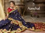 triveni anchal colorful fancy sarees catalog at reasonable rate