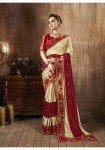 Triveni china fabric Traditional wear beautiful colours sarees collection at wholesale rate