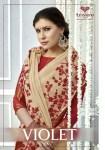 triveni violet colorful casual designer sarees collection