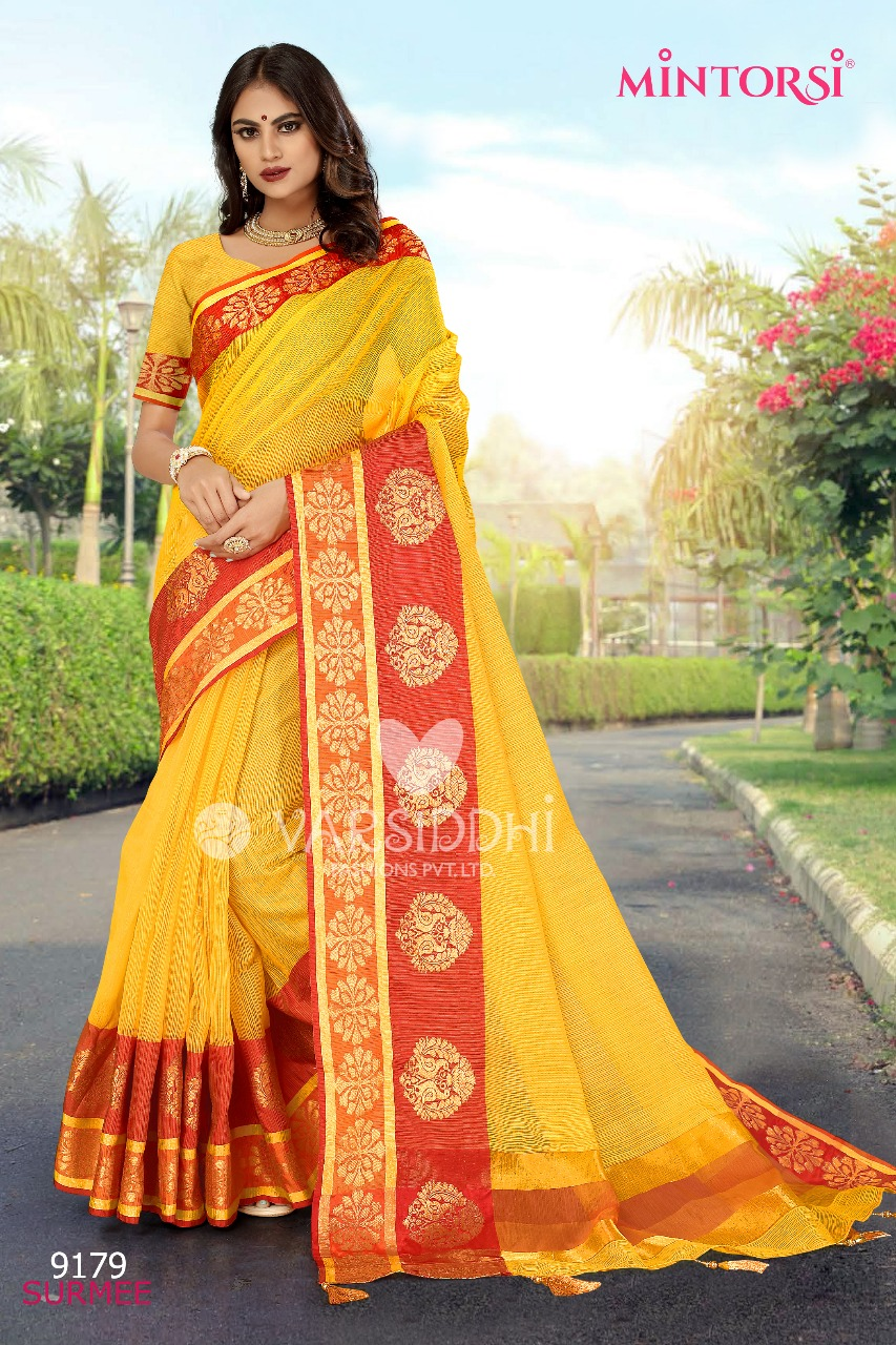 64c6db999e9 Varsiddhi Surmee colourful sarees collection at wholesale rate