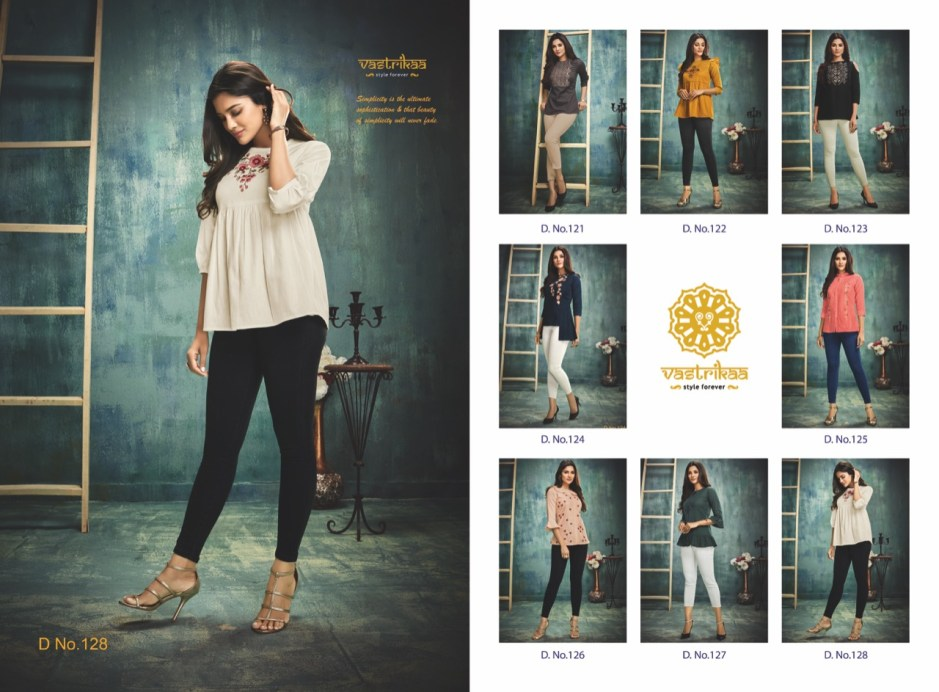 Vastrikaa glory tops ready to wear cotton short tunic catalog