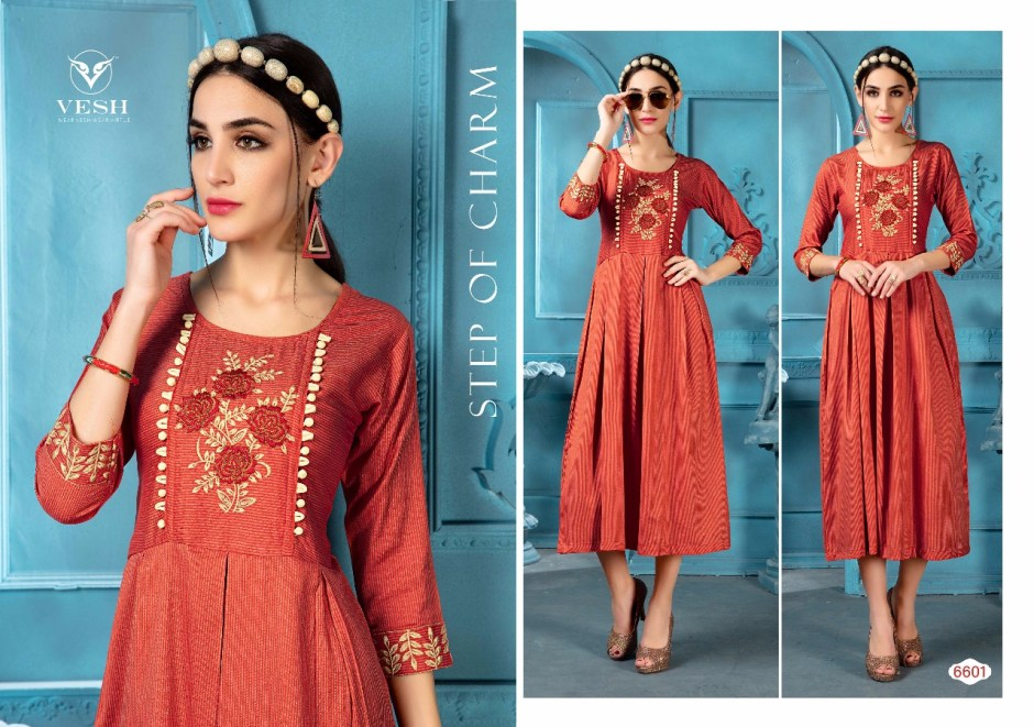 Vesh diana party wear cotton kurties catalog at wholesale rate