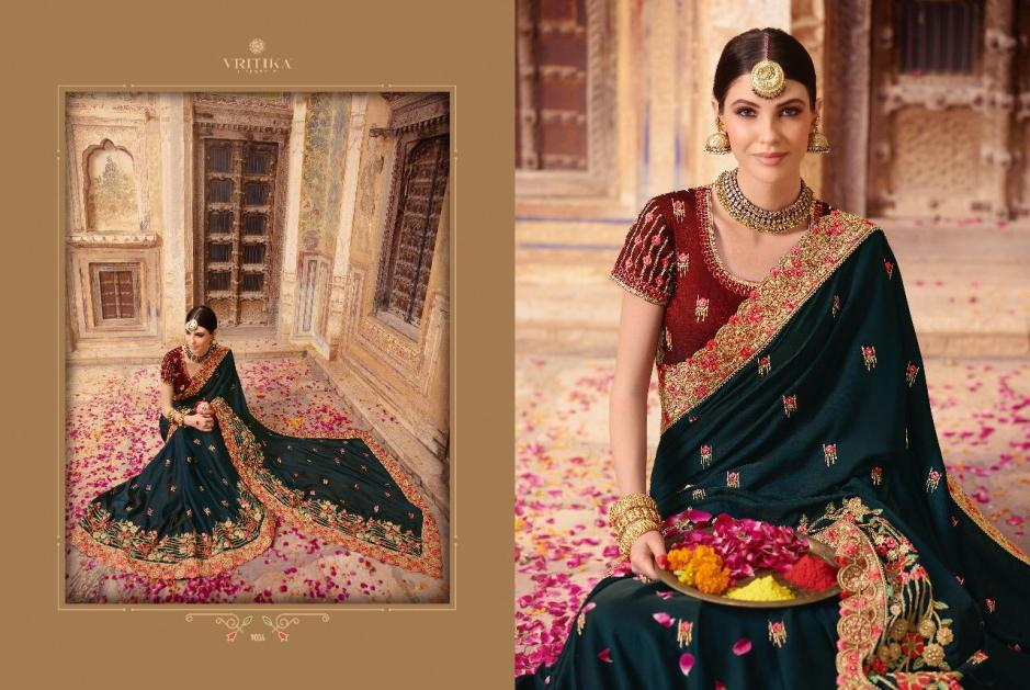Vritika lifestyle palash vol 9 traditional wear heavy sarees Collection