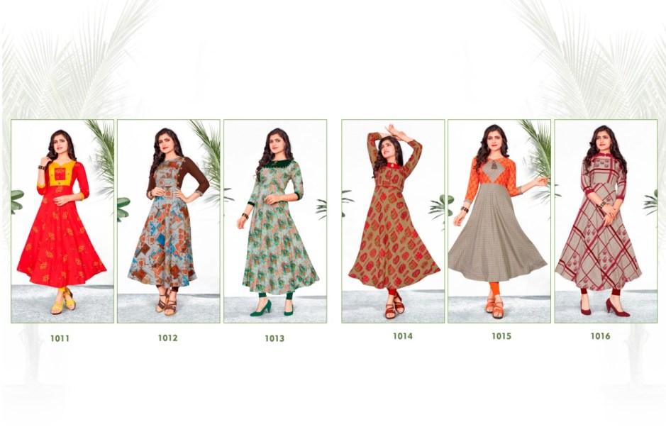Vrunda tex venam casual Wear rayon printed Kurties Catalog