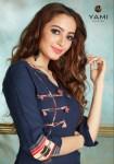 Yami Fashion gerua beautiful Designer Kurties With plazzo Collection