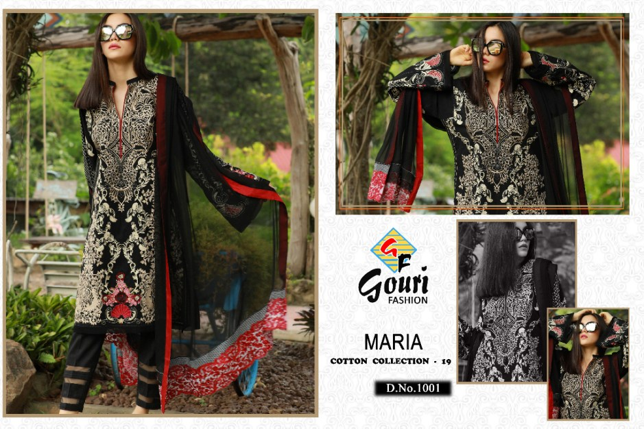 gouri fashions maria cotton collection vol 19 designer ready to wear salwaar suit collection