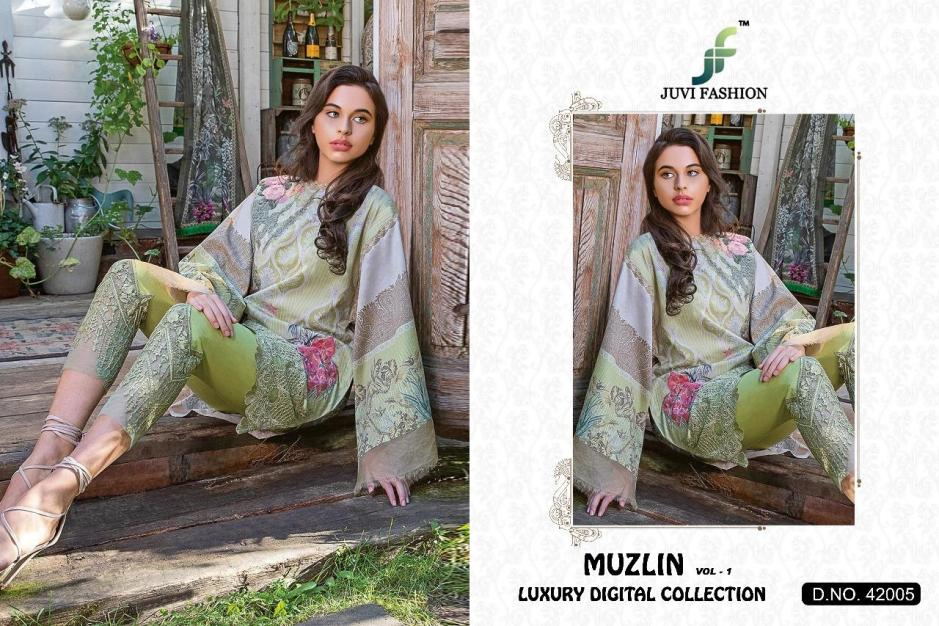 juvi fashion muzlin vol 1 beautiful fancy collection of salwaar suits at reasonable rate