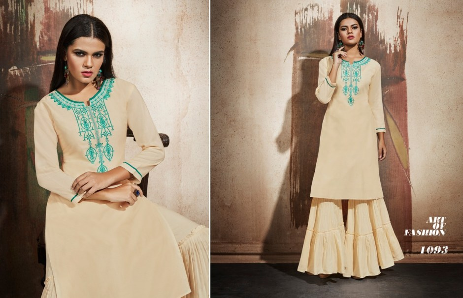 kajree khanak beautiful fancy kurtis catalog at reasonable rate