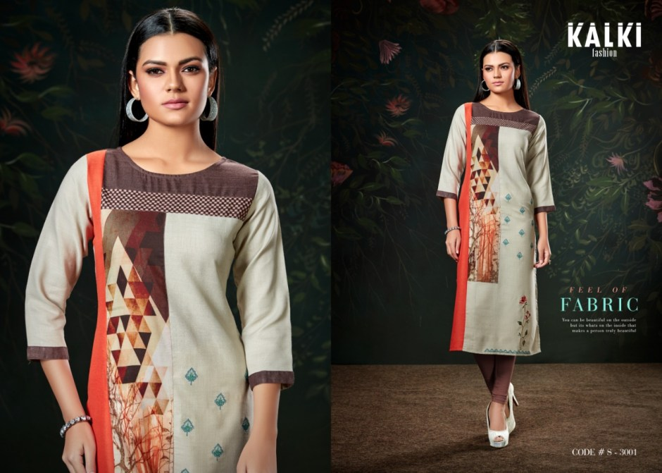 kalki fashion shazia colorful casual wear kurtis catalog at wholesale rate