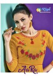 riya designer aara colorful casual wear kurtis at reasonable rate