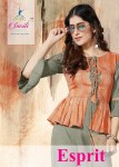 smriti trendz esprit colorful casual wear kurtis with plazzo catalog
