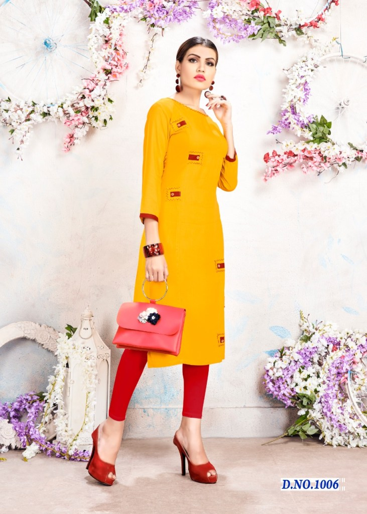 surali sumaya colorful ready to wear kurtis catalog at wholesale rate