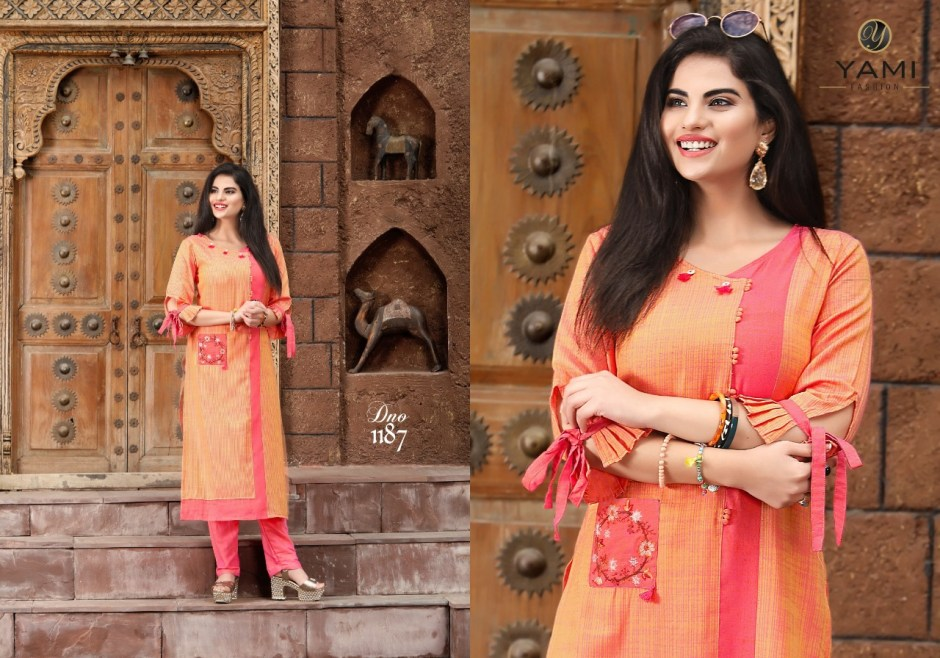 yami fashion culture colorful fancy collection of kurtis