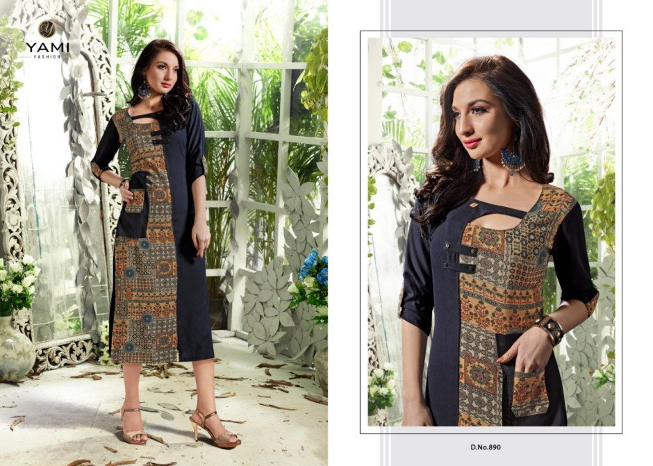 yami fashion happiness colorful fancy collection of kurtis at reasonable rate