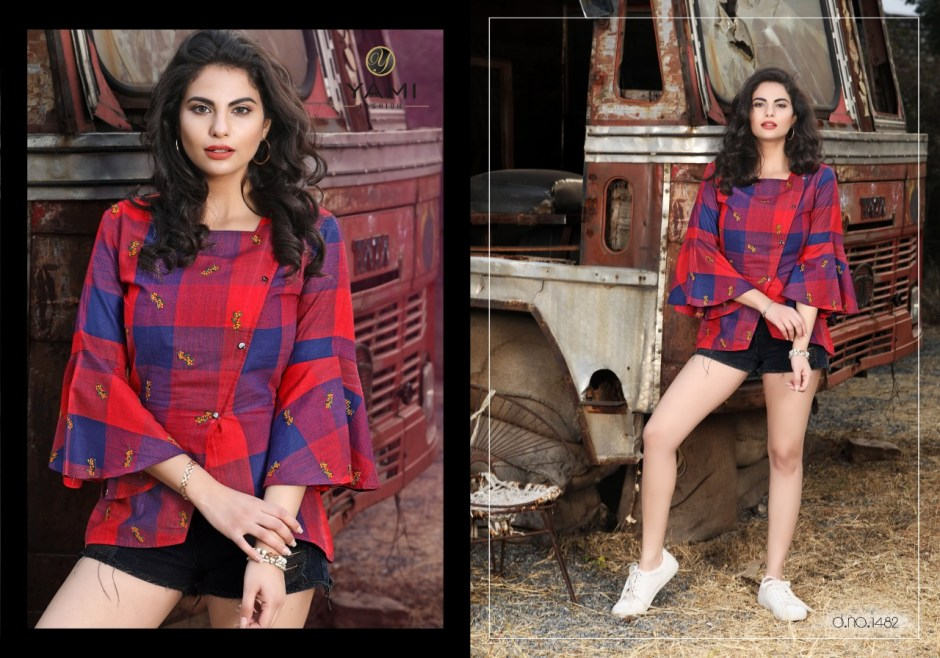 yami fashion topsy casual wear tops catalog at wholesale rate