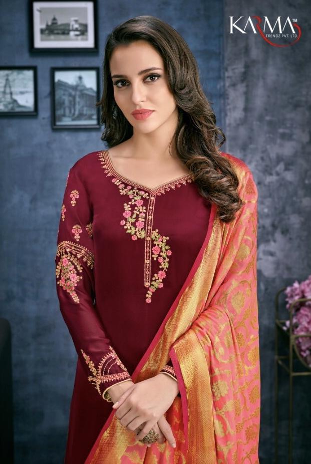 karma trendz series colorful fancy collection of salwaar suits at reasonable rate