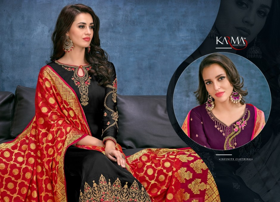 karma trendz series colorful fancy collection of salwaar suits at reasonable rate