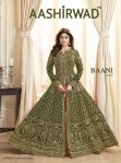 aashirwad baani gold colorful designer gowns collection