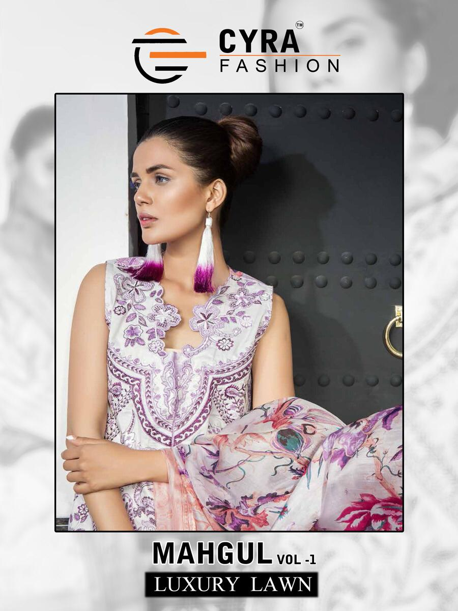 cyra fashion mahgul luxury lawn collection of salwaar suits at reasonable rate