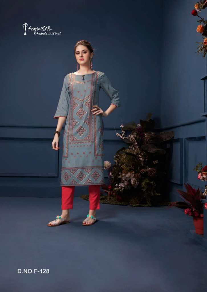 feminista sabad colorful ready to wear kurtis at reasonable rate