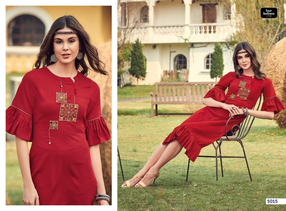 Four buttons colours vol 2 colourful dailywear kurties collection