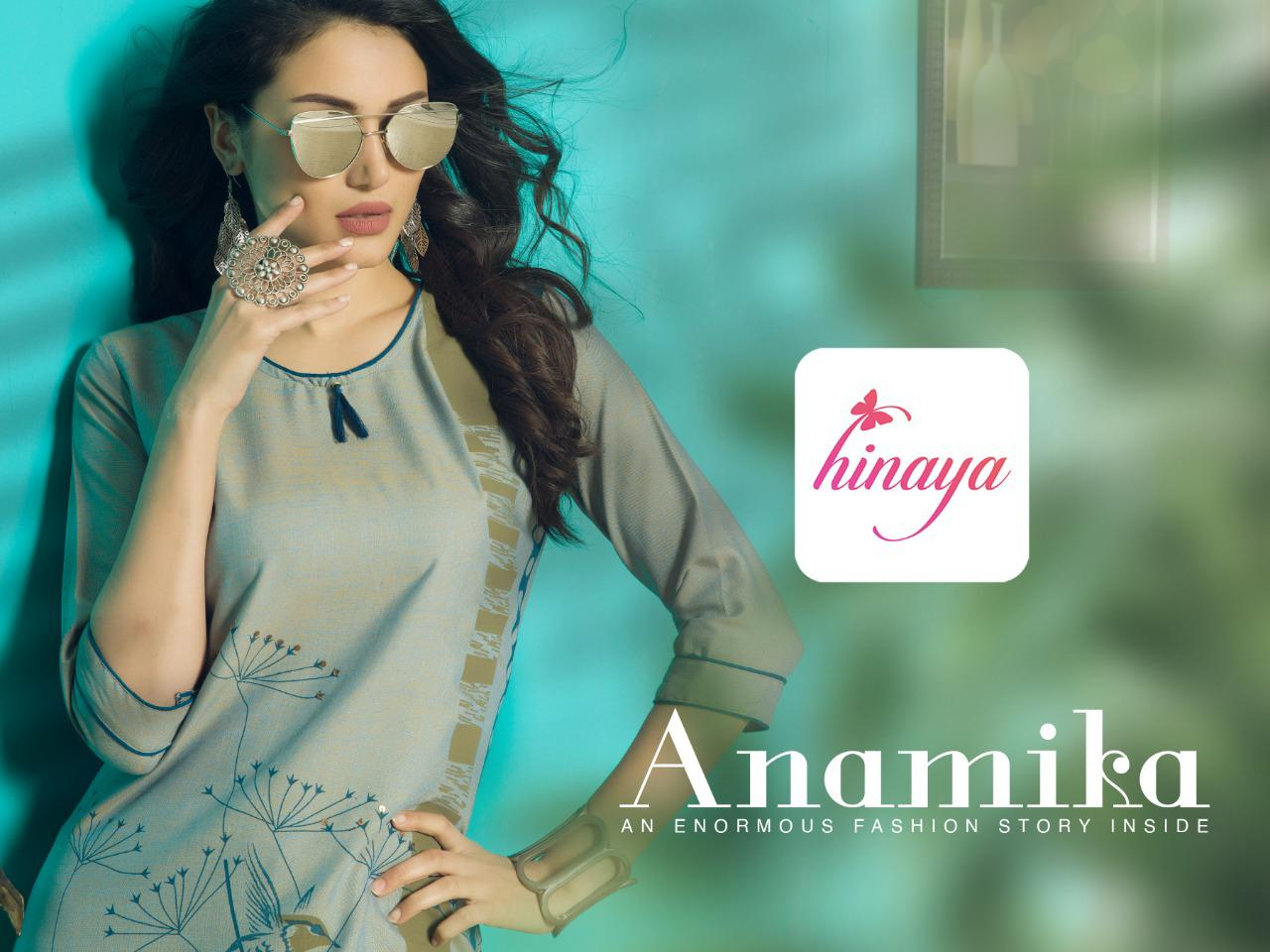 hinaya anamika colorful fancy ready to wear kurtis at reasonable rate