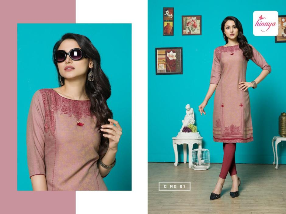 hinaya anamika colorful fancy ready to wear kurtis at reasonable rate