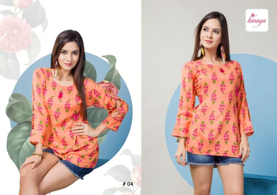 hinaya trendz vol 3 colorful short tops catalog at reasonable rate