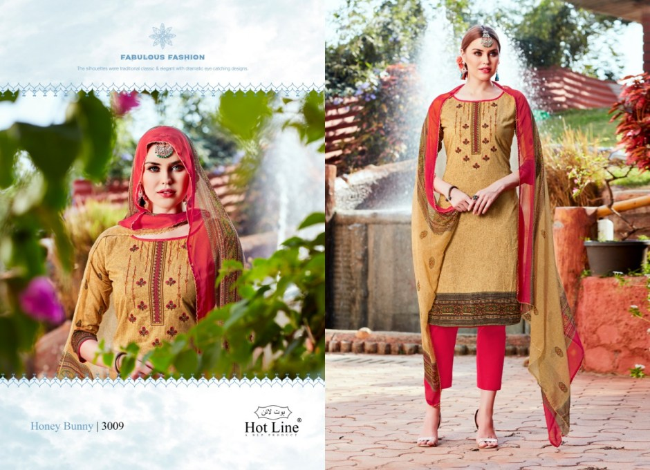 hotline hunny bunny vol 3 colorful salwaar suits collection at reasonable rate