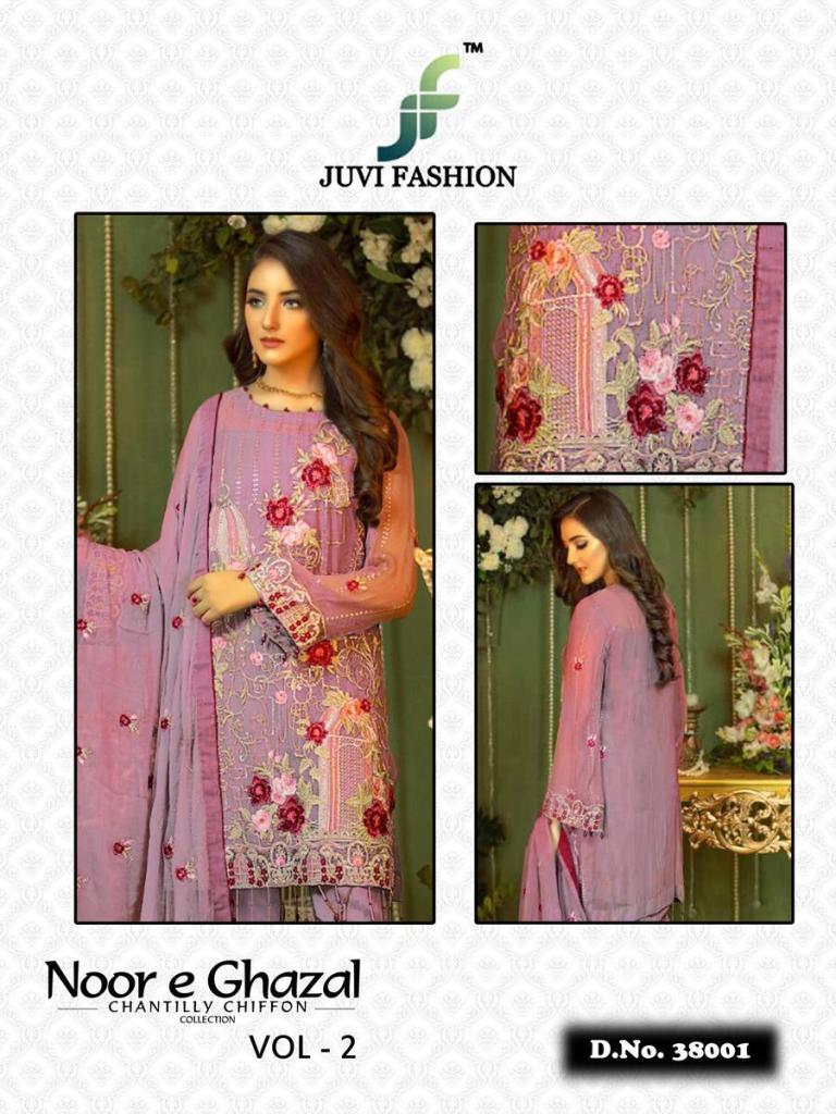 juvi fashion noor e ghazal chantilly chiffon collection 19 colorful salwaar suits