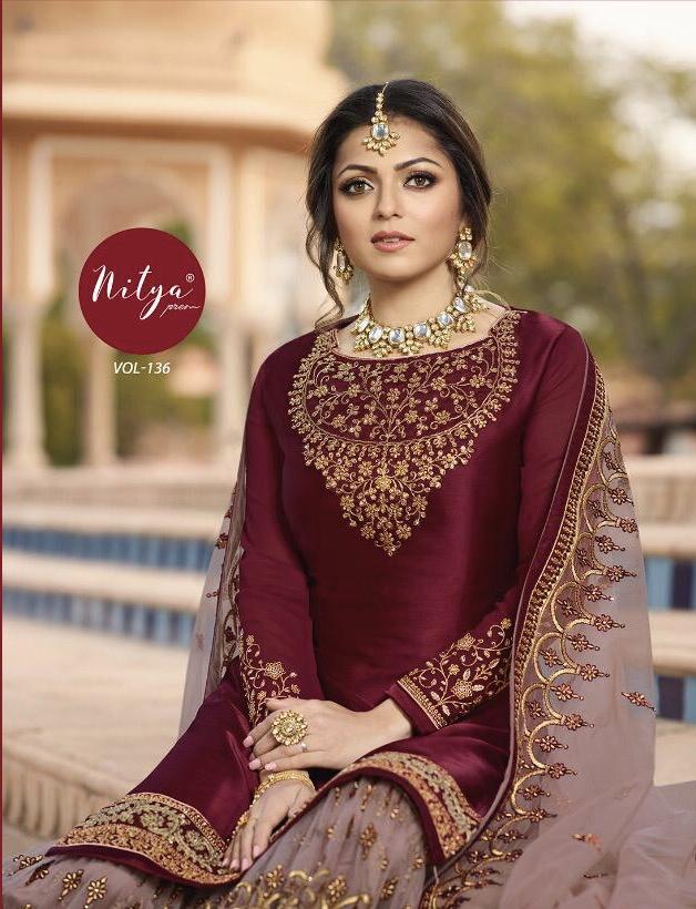 lT fabrics nitya vol 136 beautiful colorful collection of salwaar suits