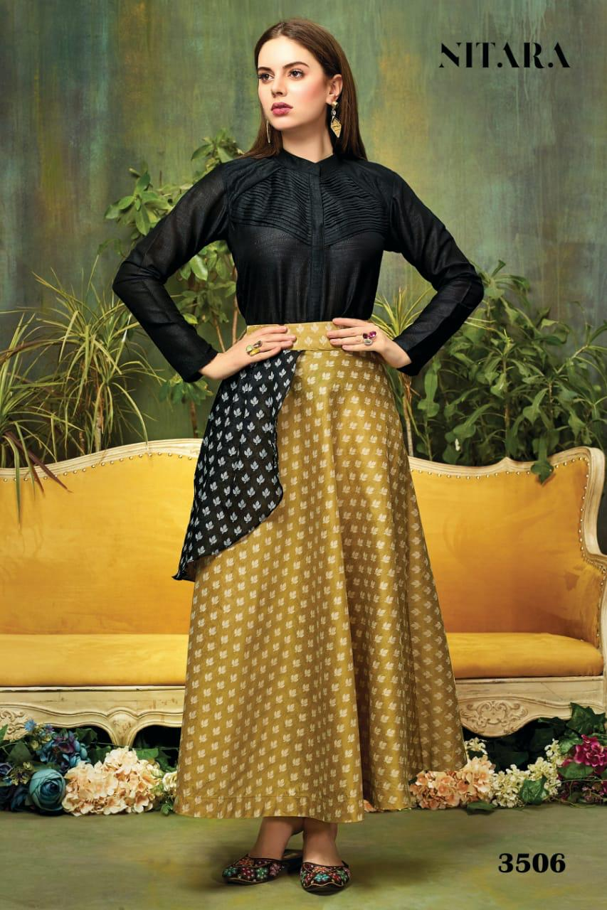 nitara fashion sparkles vol 3 fancy ready to wear tops with skirts collection