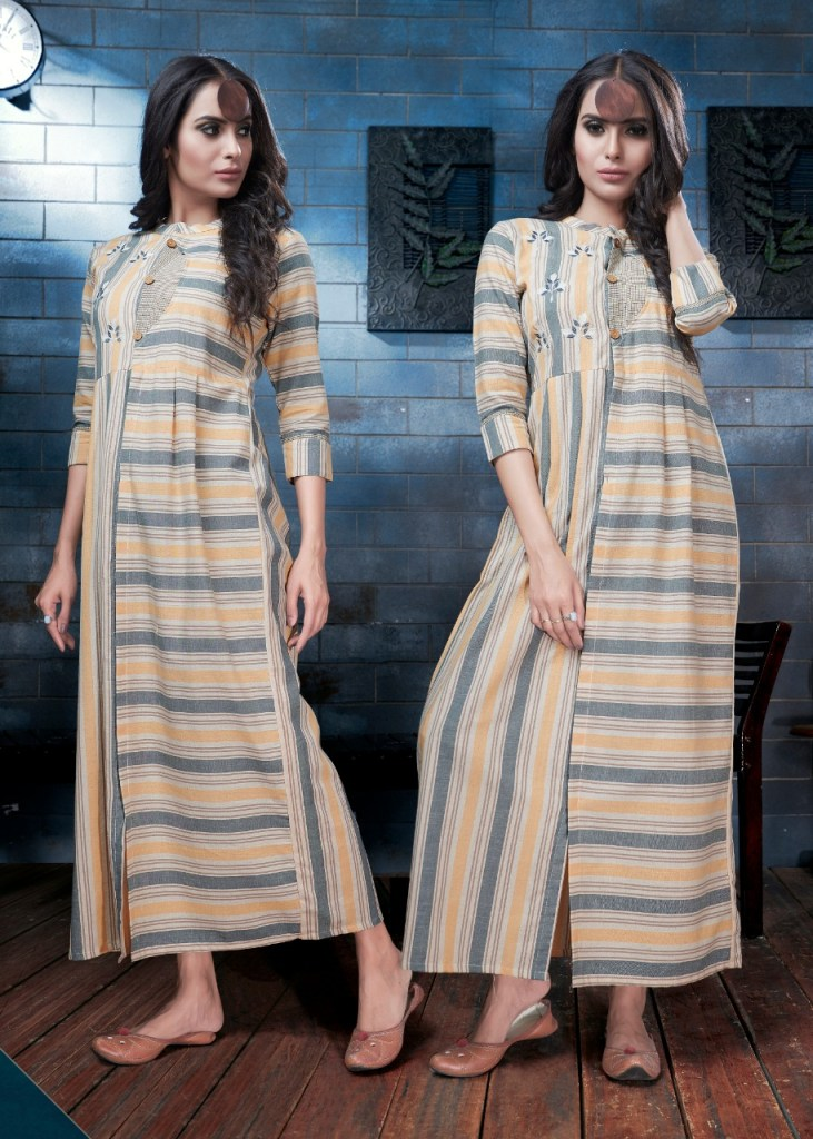 rangkala kapas colorful casual ready to wear kurtis